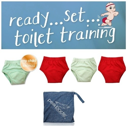 Toilet Training Pack: 4 Pants, receive one FREE Wet Bag